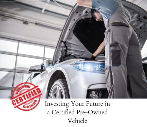 invest in a certified preowned vehicle